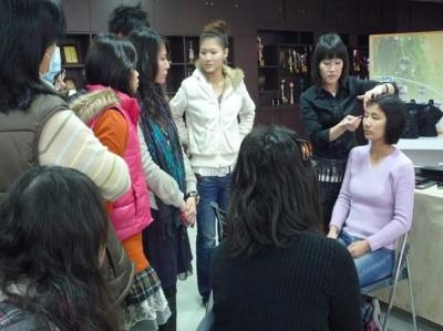 新屋國中,美容教學,美容協會,彩妝教學